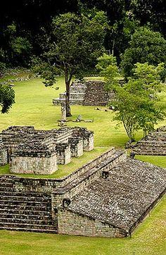 Campo Pelota, ball field, ancient Mayan ruins at Copan.