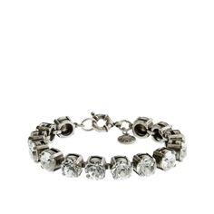 J.Crew women's Swarovski crystal bracelet.