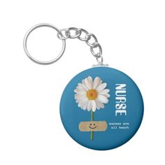 Nurses are all Heart. Nurses Day / Nurses Week / Nursing School Graduation / Nurse's Birthday / Any occasion Gift Keychain for a special Nurse . Matching cards, postage stamps and other products available in the Business Related Holidays / Nurses Day Category of the artofmairin store at zazzle.