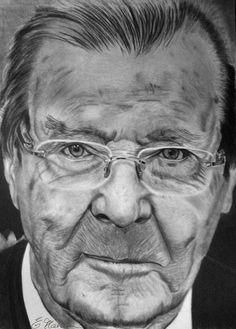 Roger Moore pencil portrait