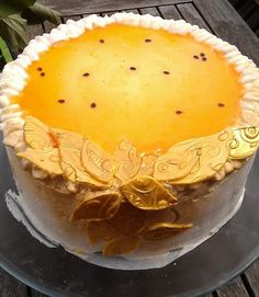 Passion fruit and white chocolate cake