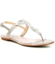 Adrianna Papell Daisy Crystal Medallion Slingback Block Heel Dress Sandals kOBnmVwkH