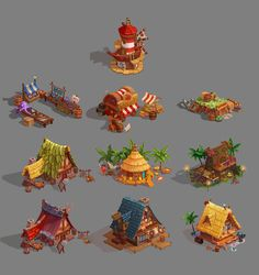 concepts of houses, Serge Samsonov on ArtStation at https://www.artstation.com/artwork/q0zN2
