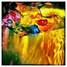 """Chihuly Exhibit, MFA Boston 2011. And incredible ceiling panel of glass """"sea life"""". Just stunning!"""