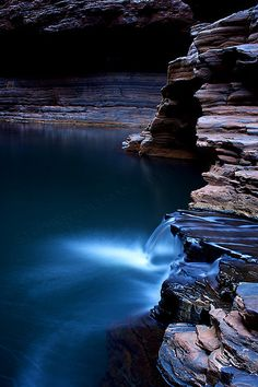 Kermits Cascade, Kermits Pool, Hancock Gorge, Karijini- Western Australia by may Great Barrier Reef Australia, Places To Travel, Places To See, Places Around The World, Around The Worlds, Beautiful World, Beautiful Places, Flora Und Fauna, Land Art
