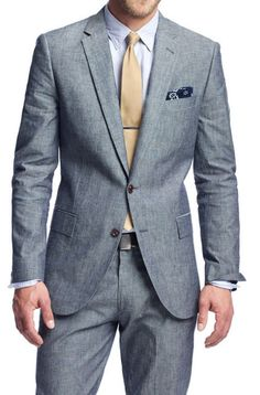 acutestyle: J. Crew Japanese Chambray Ludlow Suit (Jacket, Pants) Konnichiwa.