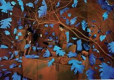 Sandy Skoglund. I can appreciate the amount of work that would go into creating an installation for a photograph like this. Her use of color is a huge part of her photography and her bright primary colors never fail to demand attention.
