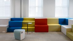 Might work in library corner? Teen Room Furniture, Classroom Furniture, Office Furniture, Outdoor Furniture Sets, Library Corner, Living Room Seating, Toy Rooms, Library Design, Corporate Design