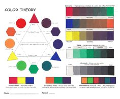 Excellent color resources for making shades and experiencing color dynamics.