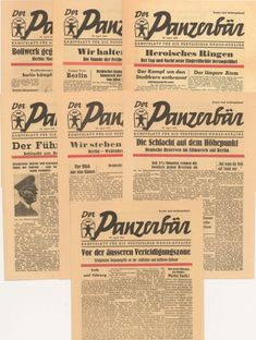 Der Panzerbaer, 1945 April, Berlin - daily propaganda newspaper of the Nazi Party