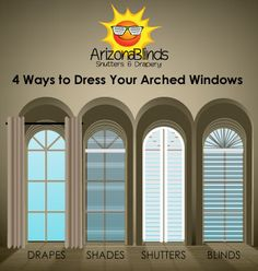 Arched windows have forever been viewed as beautiful architectural details  that are impossible to treat with. Arched Window CurtainsArch ...