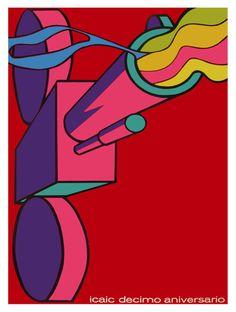 ICAIC Decimo Aniversario La Habana Cuba Decor Poster Fine Graphic Design 3068   eBay