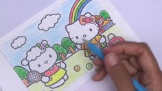 Pi n' Mo: Coloring Pages For Kids With Hello Kitty Coloring Book #Part 9...