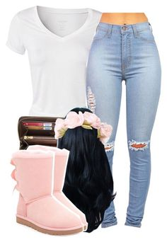 """""""•"""" by babygirlslayy ❤ liked on Polyvore featuring Calvin Klein, Louis Vuitton and UGG Australia"""