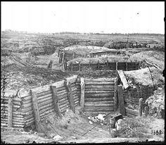Confederate Fortifications at Petersburg, VA, 1865 American Civil War, American History, Siege Of Petersburg, War Novels, Army Infantry, Union Army, Centenario, Civil War Photos, Fortification