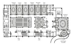 Convention Center Floor Plan 1 The Plan, How To Plan, Paris Nice, Hotel Architecture, Education Architecture, Saint Tropez, Toulouse, Hotel Floor Plan, Hall Flooring