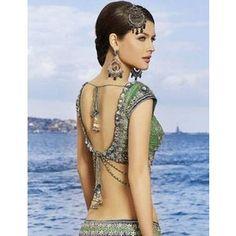 sari blouse back idea