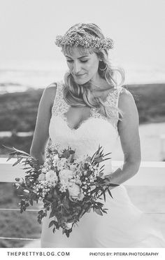 A Romantic V-neck Wedding Gown | Photography by Piteira Photography | Wedding Dress by White Lilly Bridal