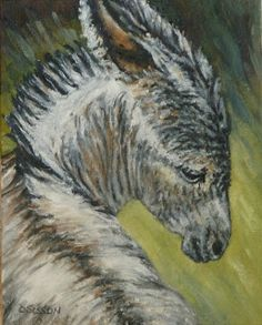 Daily Painters of Arkansas - Contemporary Fine Art International: Christmas BurroDebra Sisson Oil Painting Pet Art Portrait Donkey Farm Anim...