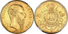 Maximilian gold 20 Pesos 1866-Mo