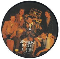 """For Sale - Spandau Ballet Lifeline UK  7"""" vinyl picture disc 7 inch picture disc single - See this and 250,000 other rare & vintage vinyl records, singles, LPs & CDs at http://eil.com"""