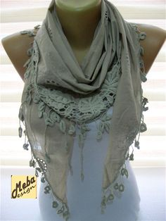 Triangular Beige  ScarfFashion scarf  gift Ideas For Her