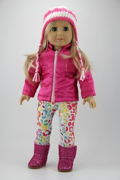 American Girl doll clothes Puffy winter coat by DolliciousClothes