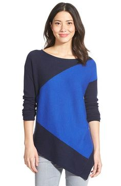 Halogen® Asymmetrical Cashmere Sweater (Regular & Petite) available at #Nordstrom