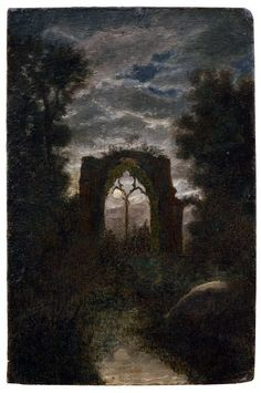 Carl Gustav Carus, The Ruins of Netley Abbey in the Moonlight 19th century