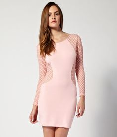 Motel Long Sleeve Lace Cut Out Dress  £48.00