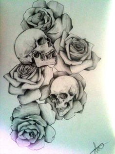 A full-sleeve design with: Skulls - snake - clock - roses - eye of horus - Jack Card (deck) do not use - contact me for own commish.