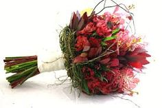 australian wildflower and protea wedding bouquets - Google Search