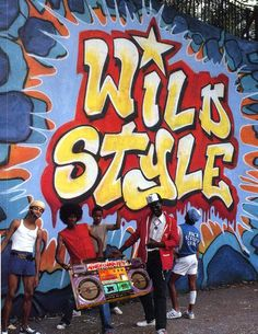 Hip hop's cultural elements - DJing, breakdancing, graffiti art, and MCing are captured in the 1982 independent film Wild Style. Hollywood follows in 1984 with Beat Street, featuring Grandmaster Melle Mel & the Furious Five, Doug E. Fresh, Afrika Bambaataa, and the Treacherous Three. Crush Groove is released in 1985. Credit: Charlie Ahearn, photographer, 1982.