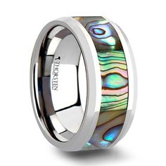 MAUI Tungsten Wedding Band with Mother of Pearl Inlay - 6 mm - 10 mm - CHECK OUT @ http://www.catscratchmed.com/store/maui-tungsten-wedding-band-with-mother-of-pearl-inlay-6-mm-10-mm/?a=9325