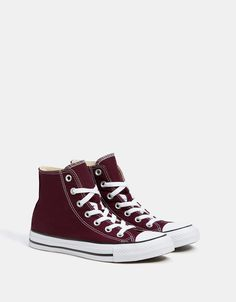 e83f018a13c7 CONVERSE ALL STAR high top canvas sneakers.  Converse  Bershka  burgundy