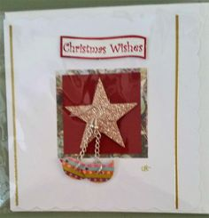 """5"""" x 5"""" Christmas Jewellery Card with Bird Earrings by Prettythings20 on Etsy"""