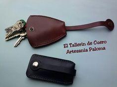 Guardallaves de cuero hechos a mano. Leather keychain handmade.