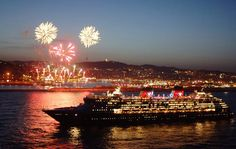 Disney Cruise Line, evening departure with fireworks