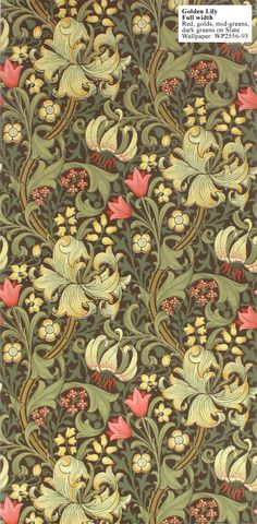 William Morris golden lily$189 per double roll l A classic if ever there was one.