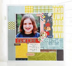 I was recently asked to play with the new March kit from Studio Calico , Story Hour . Scrapbook Supplies, Scrapbook Pages, Scrapbook Layouts, Scrapbooking, Monster Treats, Tin Flowers, Mini Monster, Hello October, Halloween Treat Bags