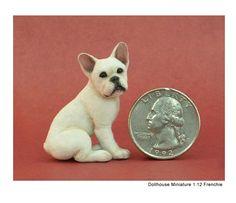 French Bulldog sculpture of clay & fibers by Kerri Pajutee Needle Felted Animals, Felt Animals, Needle Felting, Funny Cute Cats, Miniature Dogs, Mini Dogs, Animal Habitats, Dog Rooms, Animal Sculptures