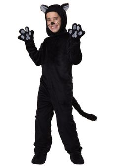 Meow! We've heard that everybody wants to be cat... and this Child Black Cat Costume is the way to do it. Now all you need is a sweet kitty jazz band.