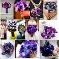 Purple bouquet wedding wedding