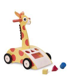 Another great find on #zulily! Giraffe Walker 'n' Shape Sorter by Wonderworld #zulilyfinds