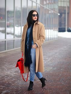 Wrapped up in Camel Coat