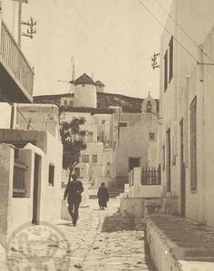 Old Time Photos, Old Pictures, Mykonos, Snow, Black And White, Painting, Outdoor, Vintage, Outdoors