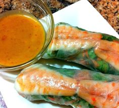 from the kitchens of kkp: vietnamese fresh spring rolls with 2 dipping sauces