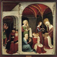 1410-20 anonyme strasbourg Nativité de la Vierge laçage côté