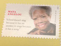 """""""Um pássaro não canta porque tem uma resposta. Ele canta porque tem um canção."""" Da série Selos de carta inspiradores. Feliz primeira semana do ano."""