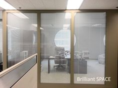 Glass System Wall 怡和大廈 (厚框雙層清玻璃屏風-內置百葉 Double Clear Glass Panel with blind) 4